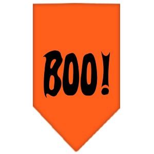 Boo! Screen Print Bandana Orange Large